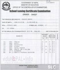 slc result 2072 understanding grading system with sample grade
