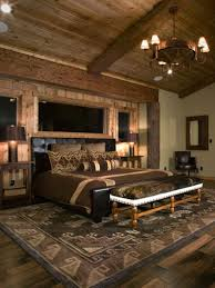 rustic bedroom wall decor ideas light blue stained wall dark