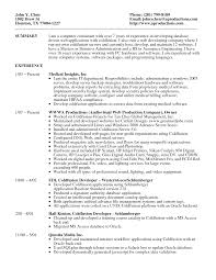Job Resume Server by Skills In Information Technology Resume Free Resume Example And