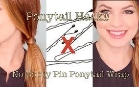 no bobby pin ponytail wrap youtube