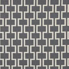 natural geometric trellis tile on ash grey heavy linen upholstery