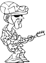 guitar player coloring pages disco king guitar player coloring