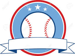 baseball ribbon baseball ribbon banner illustration isolated on white royalty free