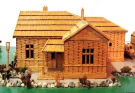 Toothpick House Toothpick House With Working Door Ice Cream Three Getting The
