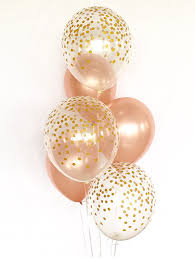gold balloons gold and clear gold confetti balloons birthday