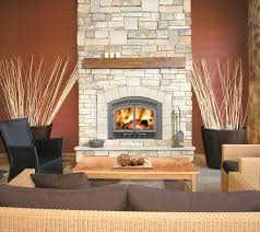 living room great napoleon fireplace with stone mantel kit great napoleon fireplace with stone mantel kit matched with brown wall plus rattan sofa set for family room decor ideas