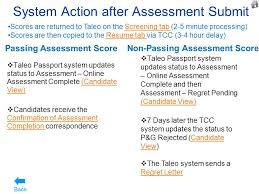 Taleo Resume Total Application U0026 Assessment Process Flow Global Talent Supply