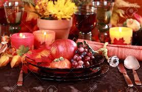 autumn table setting stock photos royalty free autumn table