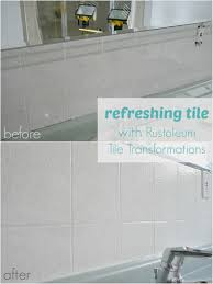 Ceramic Tiles For Bathroom How To Paint Over Dated Ceramic Tile Dans Le Lakehouse