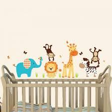 Giraffe Wall Decals For Nursery Cheerful Jungle Theme Wall Decals With Wall Sticker Giraffe For