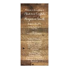 wedding programs rustic rustic country barn wood wedding program template zazzle