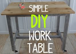 Build A Work Table How To Build A Simple Low Cost Work Table With Reclaimed Wood