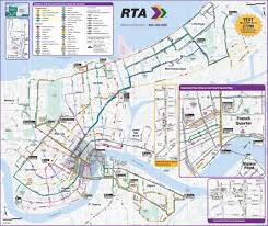 Miami Beach Bus Map New Orleans Rta Public Transport Map