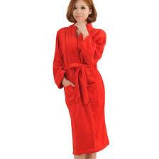Full Length Bathrobe Popular Red Bathrobe Women Buy Cheap Red Bathrobe Women Lots From