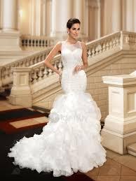 robe sirene mariage robe mariage charme col v perles sirène tidebuy