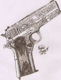 colt gun tattoo design real photo pictures images and sketches