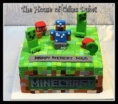 mindcraft cake minecraft cake dubai