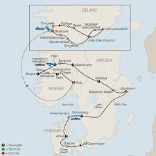 Iceland Map Location Tour The Scandinavian And Iceland Globus