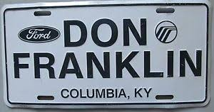 don franklin ford 1980 s don franklin ford dealership columbia kentucky booster