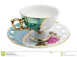 teacup and saucer fancy teacup and saucer stock image image of artistry 9482845