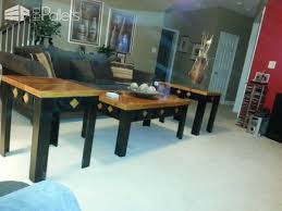 Coffee Table Out Of Pallets by Coffee Table End Tables U0026 Stool Made From Pallets U2022 1001 Pallets