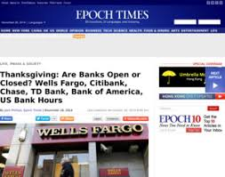 fargo citibank td bank thanksgiving are banks open or