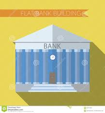 flat design modern vector illustration of bank building icon with