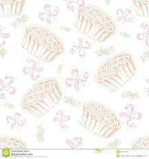 dessert seamless pattern sweet background in hand drawn style