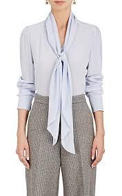 scarf blouse chloé silk crêpe de chine scarf neck blouse barneys york