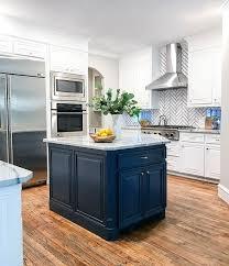 navy blue kitchen island ideas 15 blue kitchen islands their paint colors chrissy
