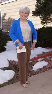 what is in style for a 70 year old woman spring weddings and wearing pants for women over 50