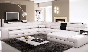 Sofa Casa Leather Vig Divani Casa Polaris White Bonded Leather Corner Sectional Sofa