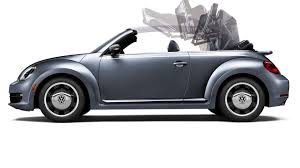 navy blue volkswagen beetle vw beetle convertible denim special edition priced at 25 995