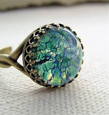 fire opal rings images Vintage emerald opal rings green fire opal ring large round fire jpg