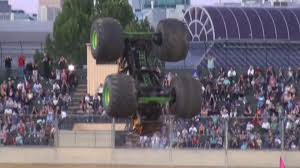 monster truck crashes video monster truck fails at riding up dirt ramp jukin media