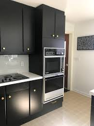 black kitchen cabinets images how to paint black kitchen cabinets our kitchen renovation