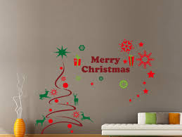wall decals stickers home decor home furniture diy hand carving merry christmas tree gift xmas vinyl wall stickers wall uk rui26