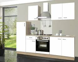 komplett küche 2 70m komplett küche biggi weiß kühlschrank herd backofen