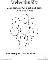 color and count the alphabet worksheets education com