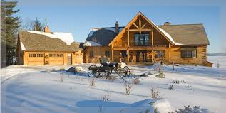 two story log homes by treetop log homes built in michigan indiana