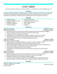 Resume Sample Accounting by In Accounting Resume