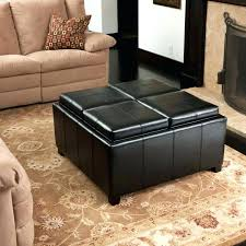 large leather tufted ottoman leather tufted ottoman dancingfeet info