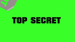 top secret with spray paint on green screen stock footage video
