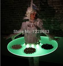 new stage show led light up bar serving table ufo ds birthday