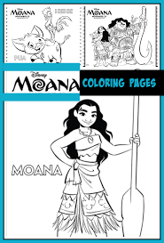 moana coloring pages desert chica