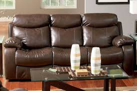 Brown Leather Sofa Sets Denisa Brown Leather Reclining Sofa Steal A Sofa Furniture