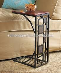 geometric design tabletop nightstand tv book tray furniture side