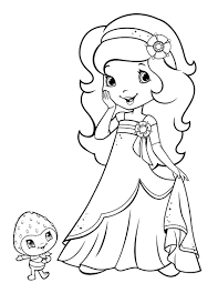 strawberry shortcake coloring pages free chuckbutt com
