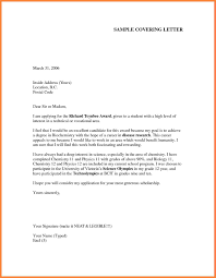 General Resume Cover Letter Examples by How To Write An Application Letter Sample