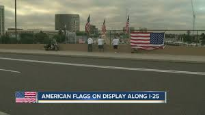 Veterans Flag Depot American Flags On Display Along I 25 Youtube